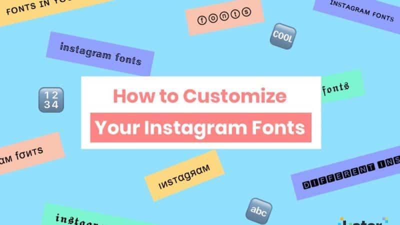 instagram bio font